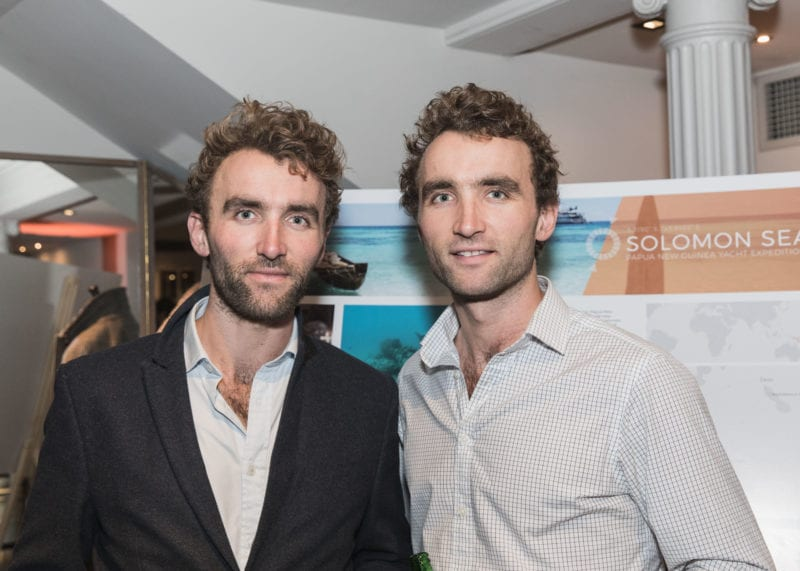 Adventure twins Ross and Hugo Turner attend the launch
