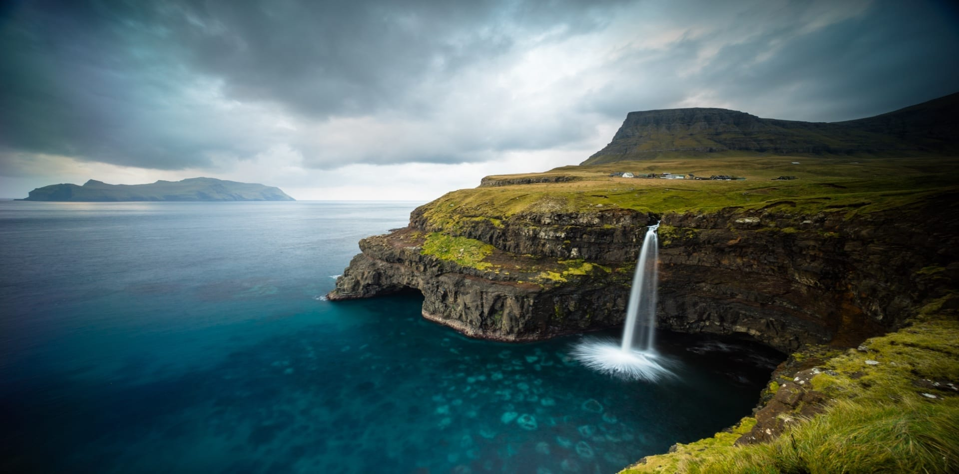 Faroe Island's dramatic waterfall captured by Chris Burkard