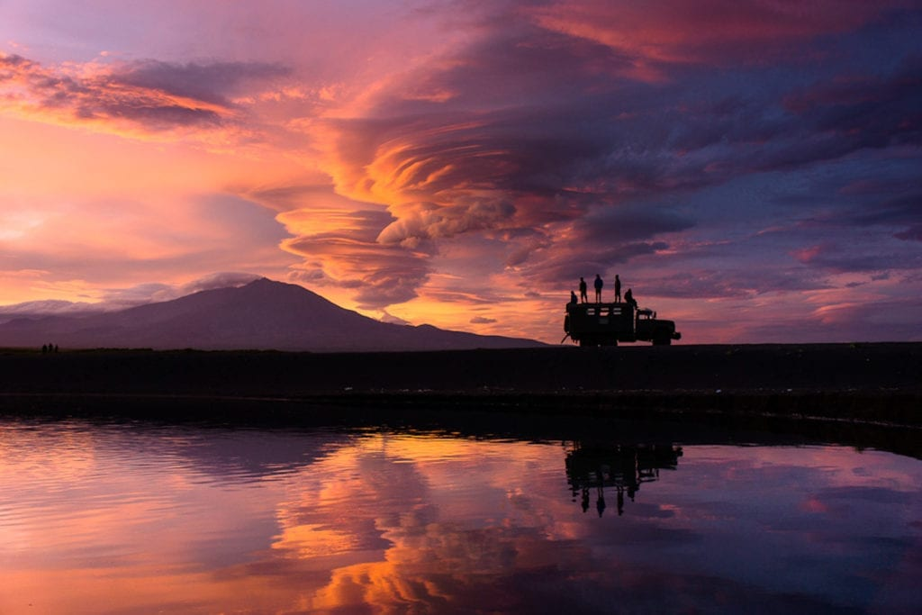 Sunset in Kamchatka Russia
