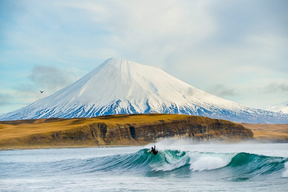 The Aleutian Islands' dramatic environment