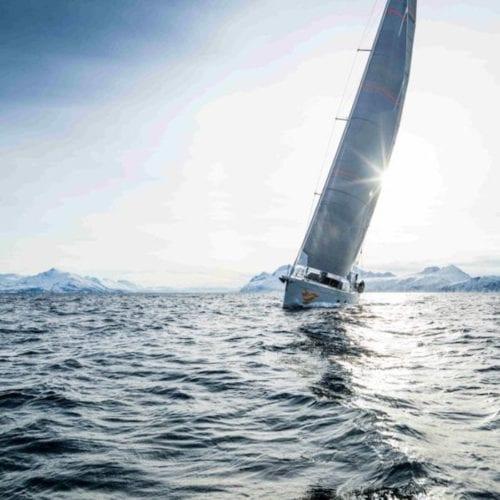Firebird Yacht Under Sail