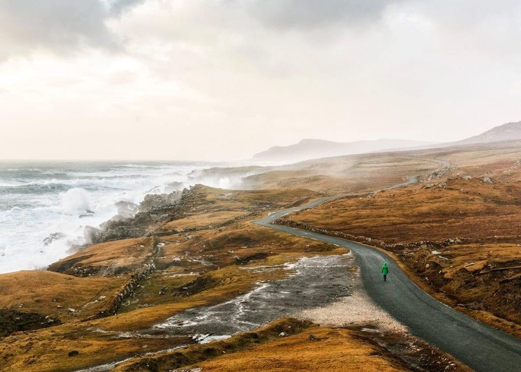 The Atlantic Drive on the West Coast of Ireland.