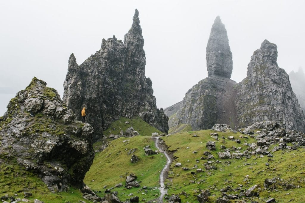 Admiring the Old Man of Storr