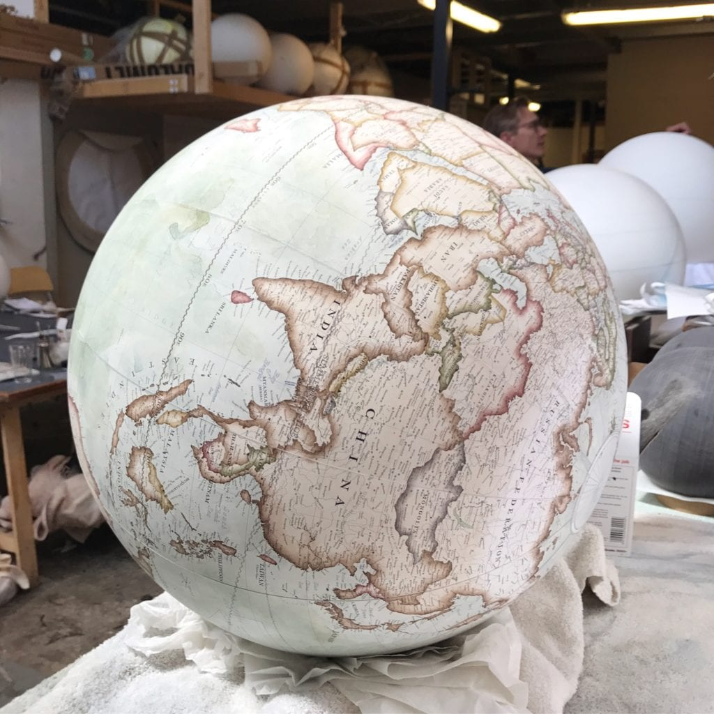 almost completed globe
