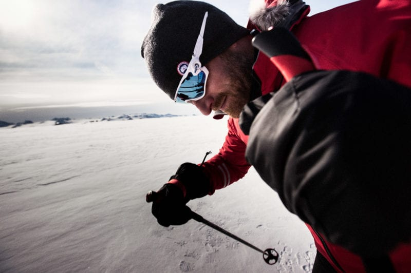 Ben saunders skates across the antarctic using poles