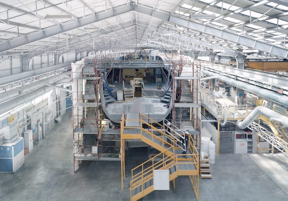 Wally 50m outfitting