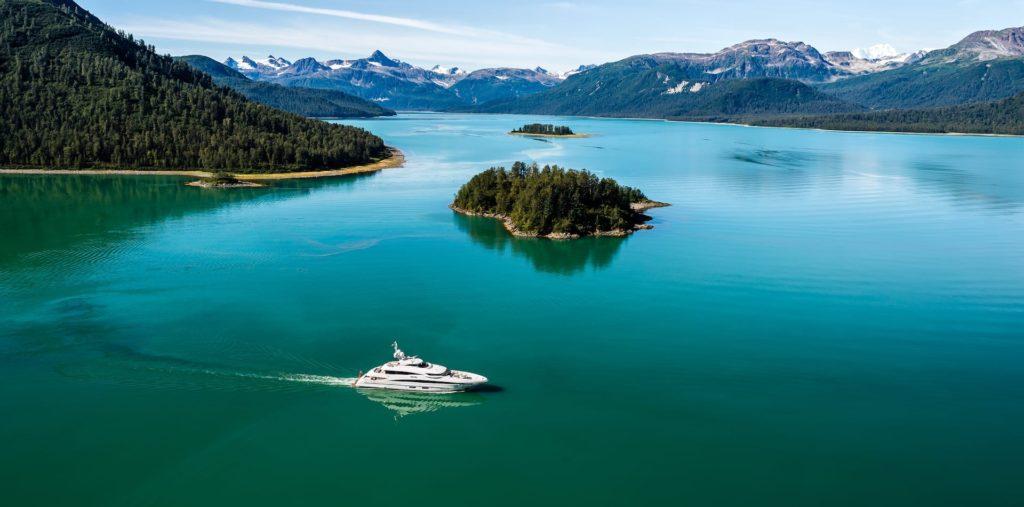 My Sky luxury Yacht, Alaska alpine waters