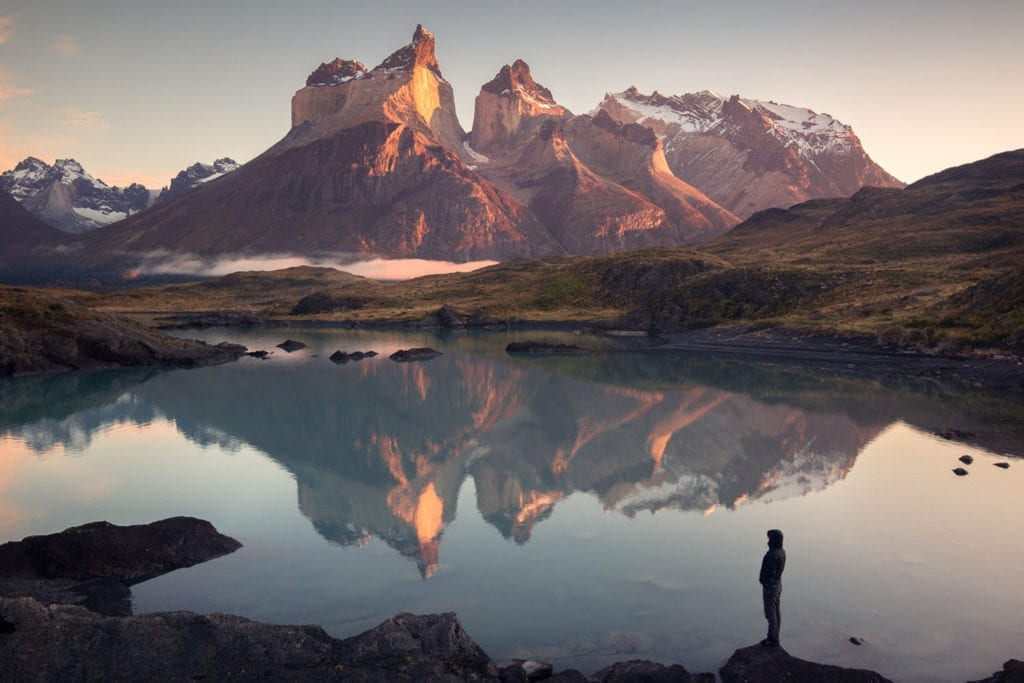 Grassi captures this beautiful mountainous reflection over a lake