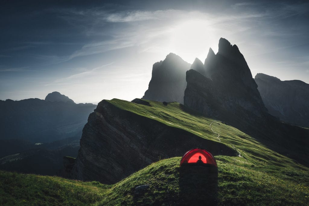 Perfect place to pitch a tent, waking up to dreamy views