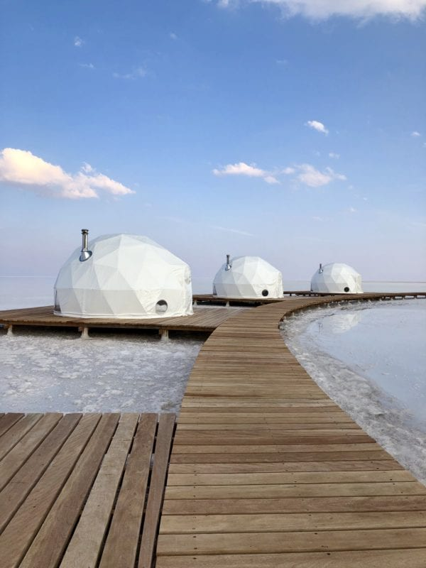 walkway to luxury domes