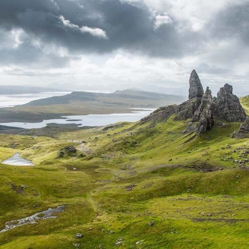 Scotland's natural beauty and rocky landscape