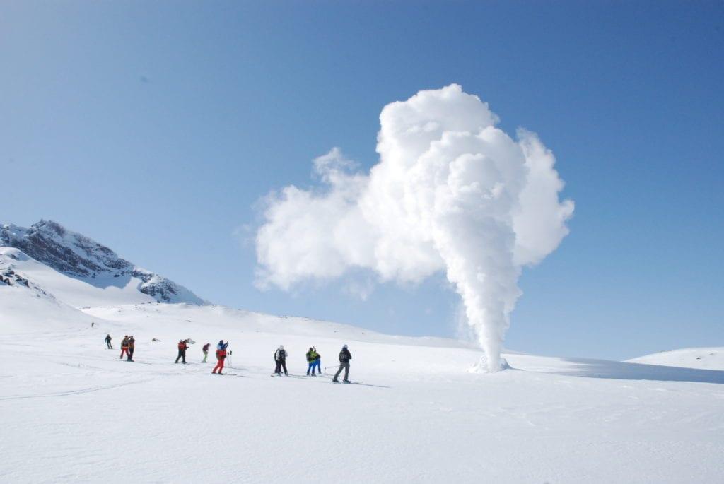 Far Eastern Russian boasts slopes descending fuming volcanic slopes