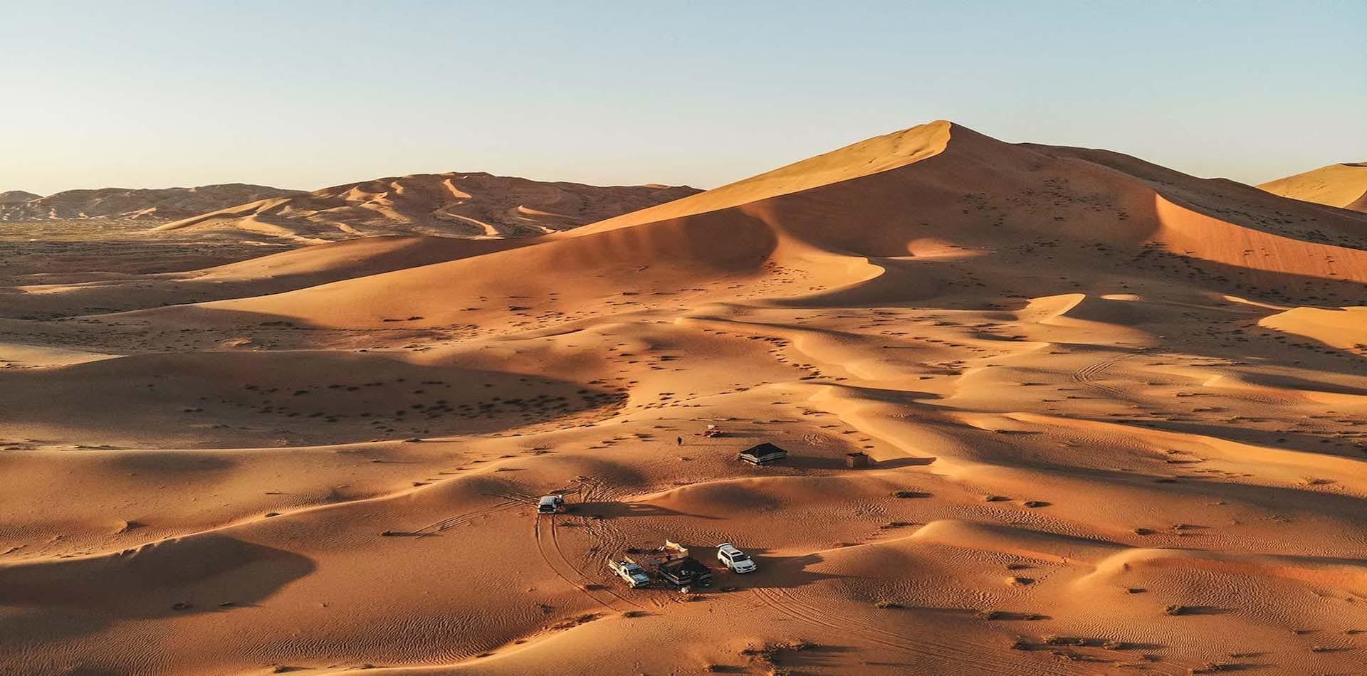 Rolling desert for miles