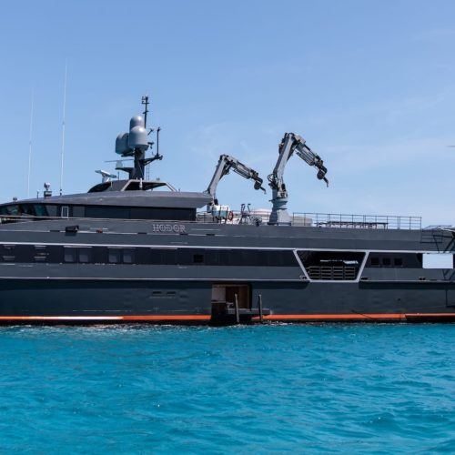 66m Hodor yacht exterior and heli