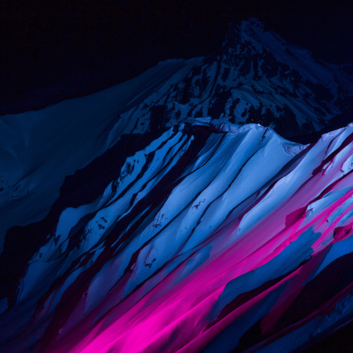 Ski this outback slope lit up with UV lights
