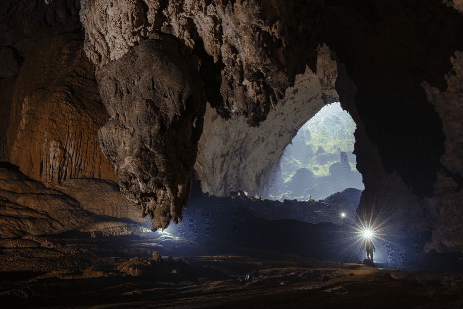 Mystical cave formations