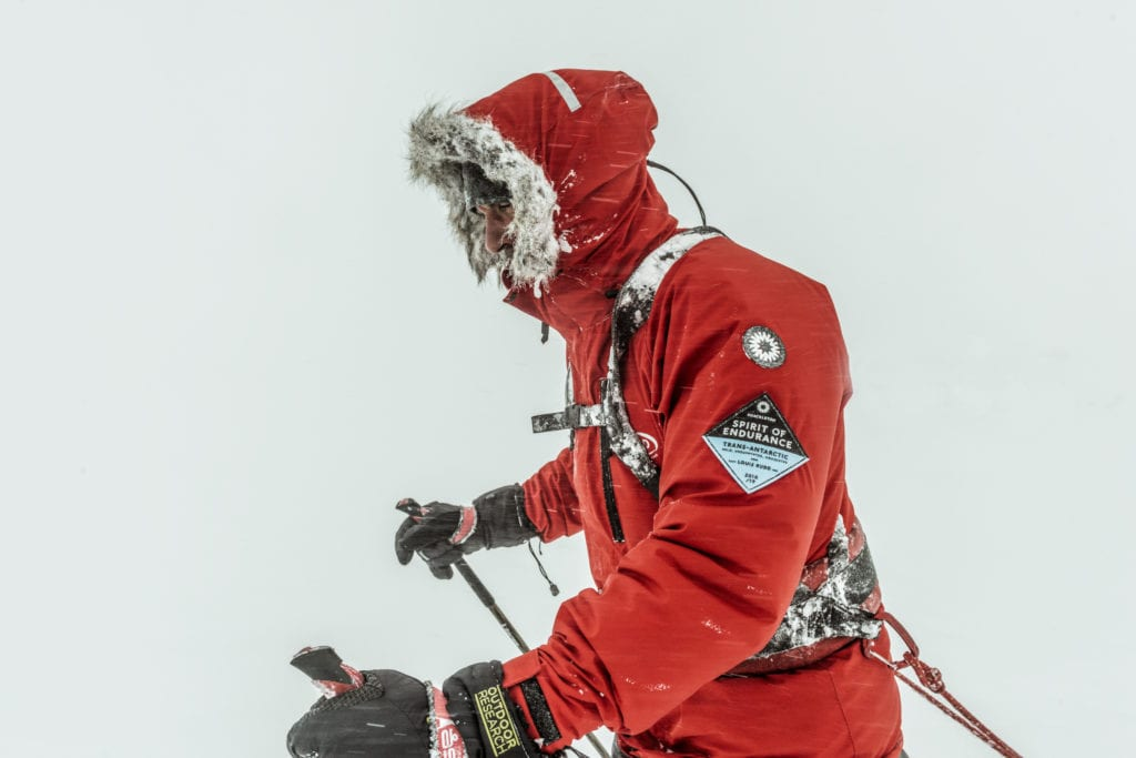 Facing almost inhabitable conditions, Rudd treks across Antartica to the South Pole