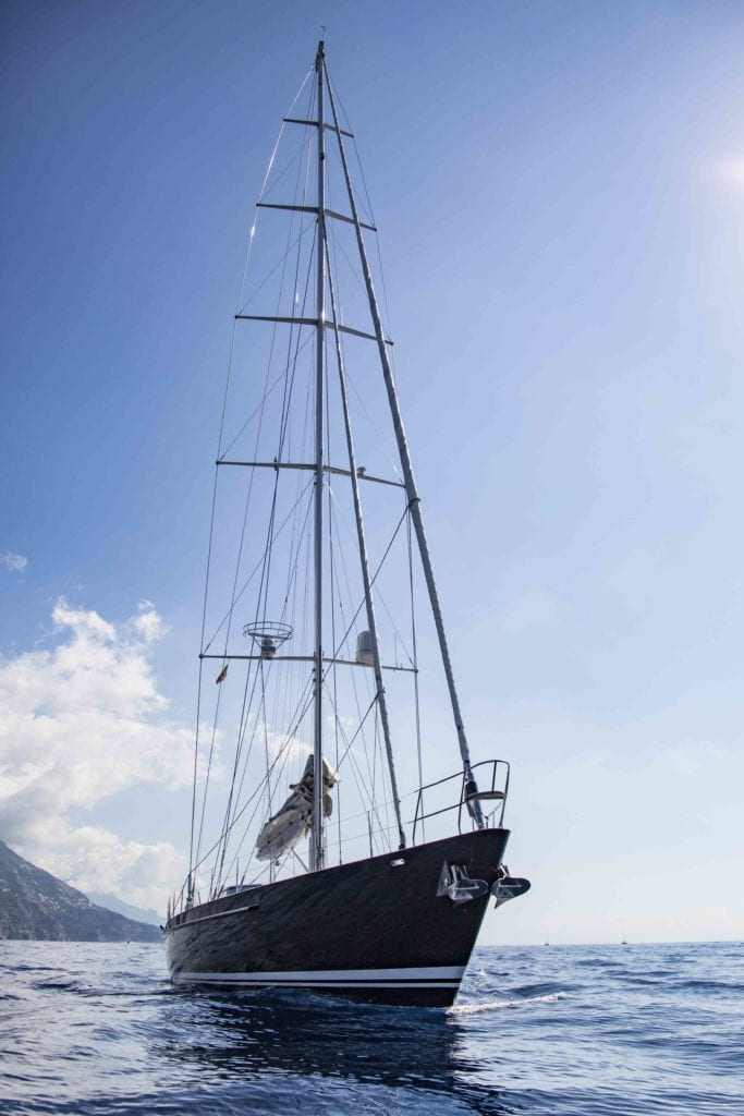 30m Imagine sailing yacht at sea