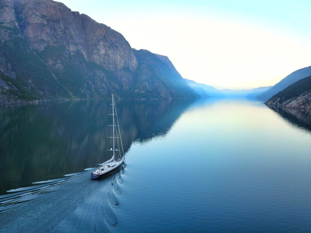 Imagine, floating through Southern Norway's Fjords