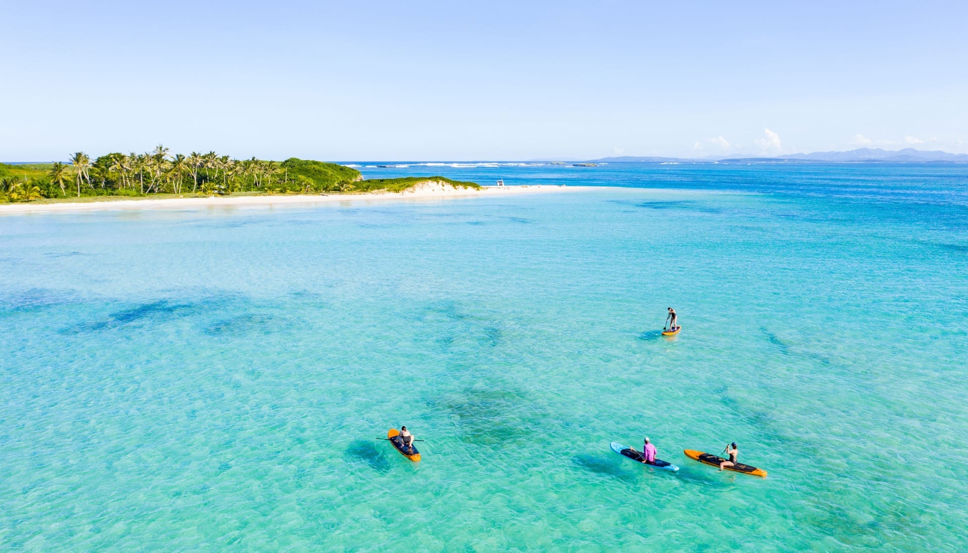 paddleboard over pristine waters
