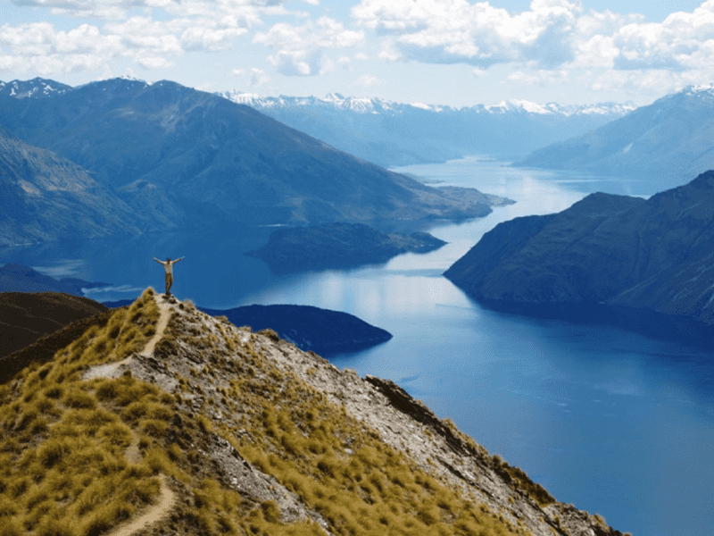 Stunning views from Roys Peak over Lake Wanaka