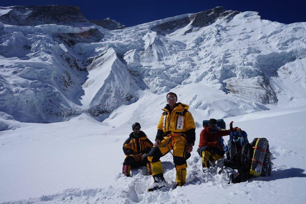 a group shot whilst climbing Annapurna