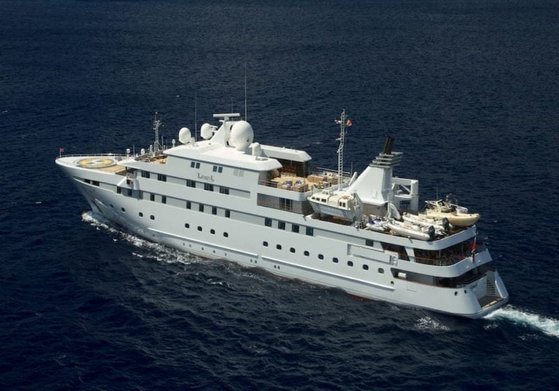 Lauren L Yacht profile ariel shot