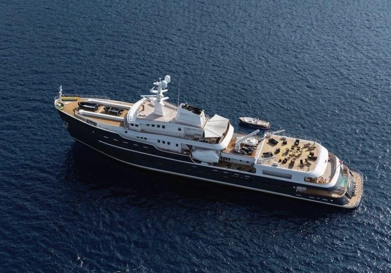 LEGEND Yacht exterior ariel