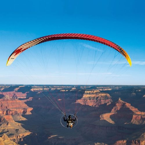 Paramotor over the Grand Canyon