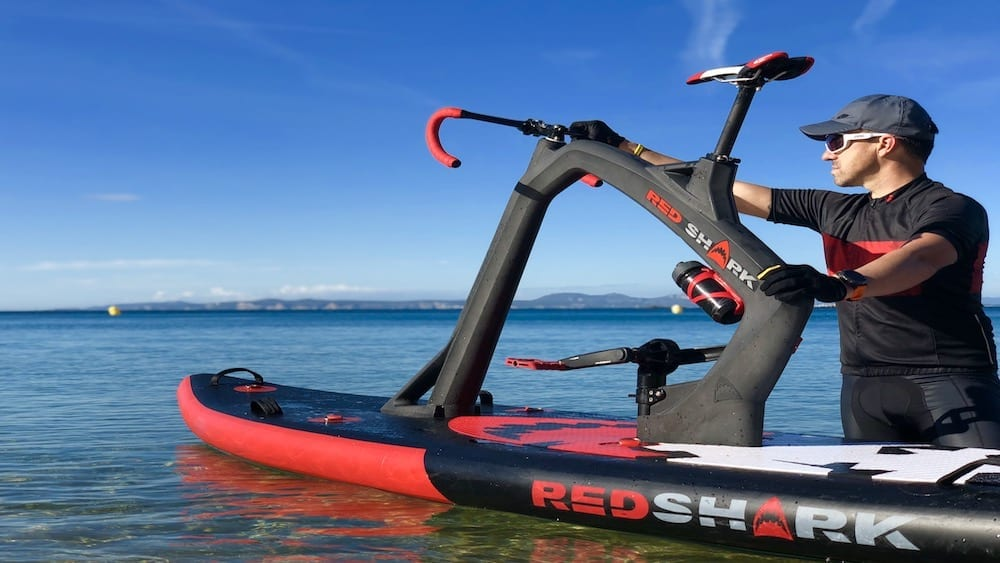 Bike on a paddle board are the new Red Shark Bikes, Antartica