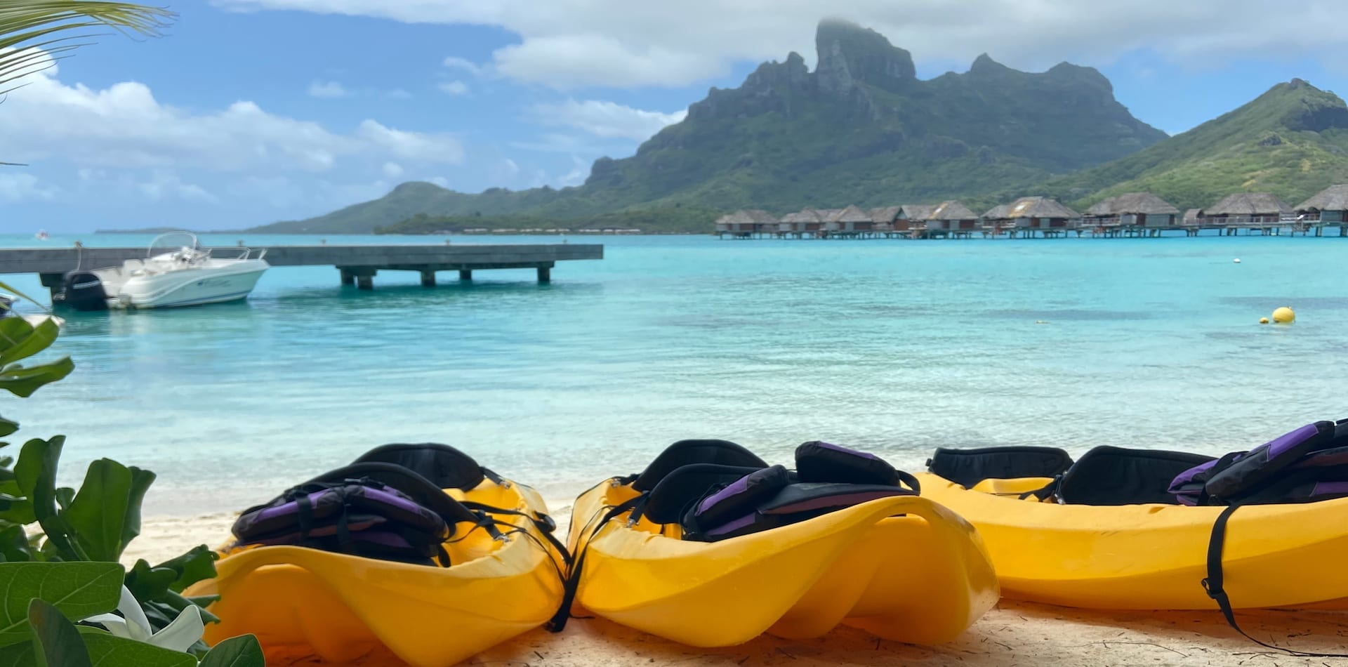 Kayaks on a Beach in Tahiti