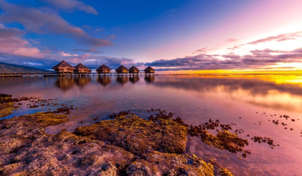 Luxury stilted villas in Tahiti