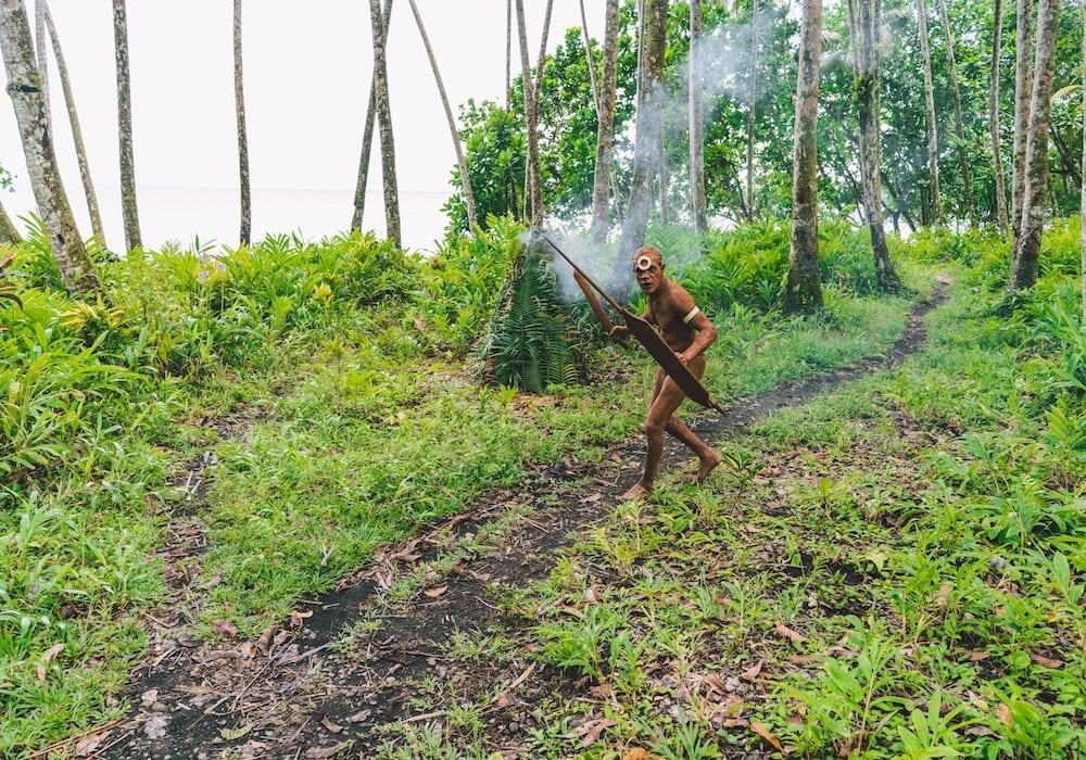 Solomon islands tribal man