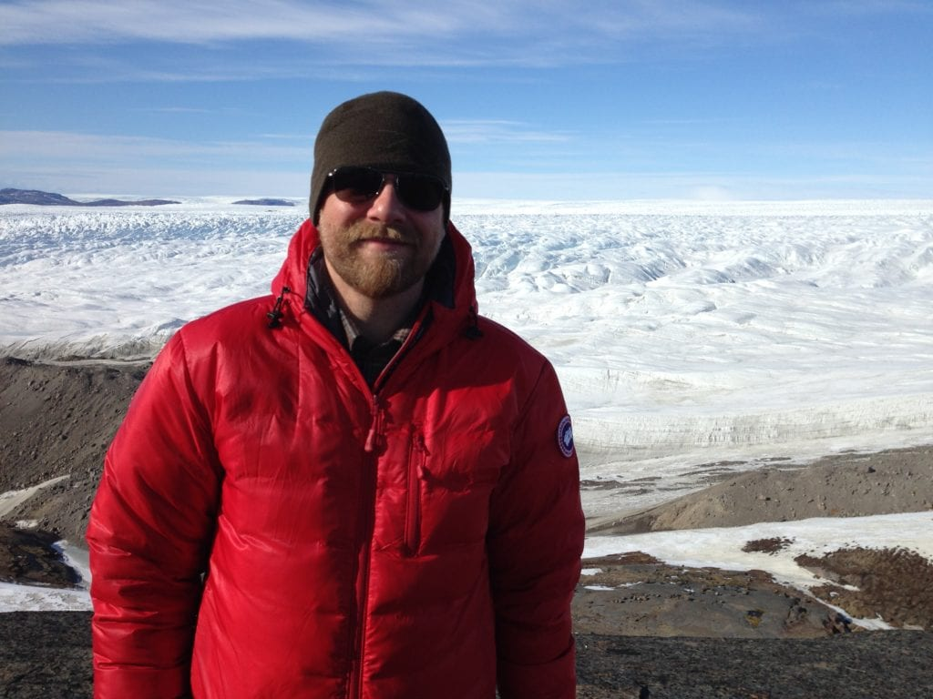 Anders La Cour Vahl at the Greenland ice cap