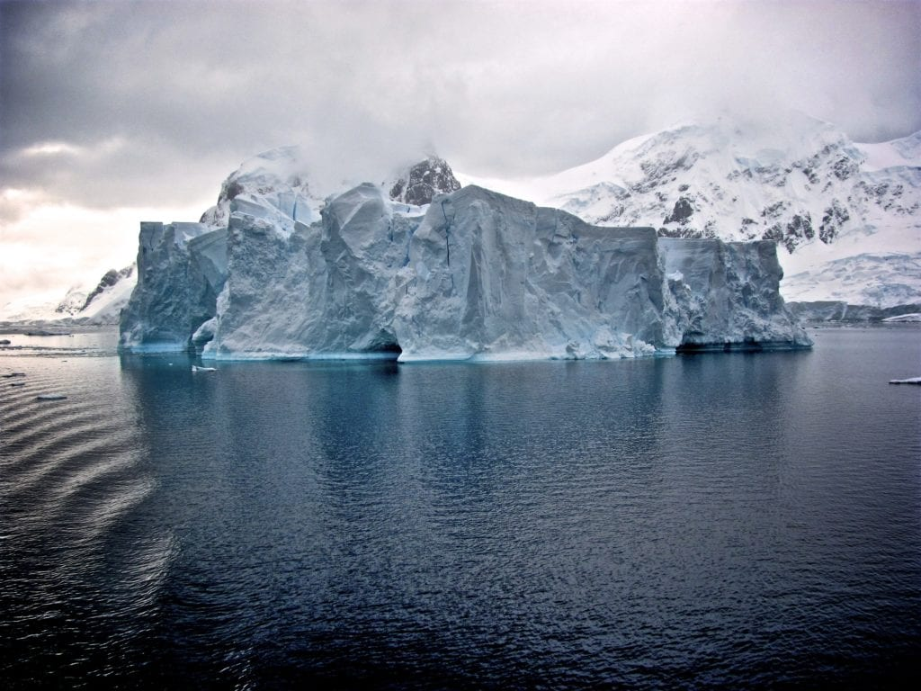 Dramatic shot of this iceburg enhances the sheer enormity of it