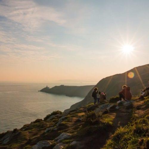 Coastal picnic at sunset, Ireland