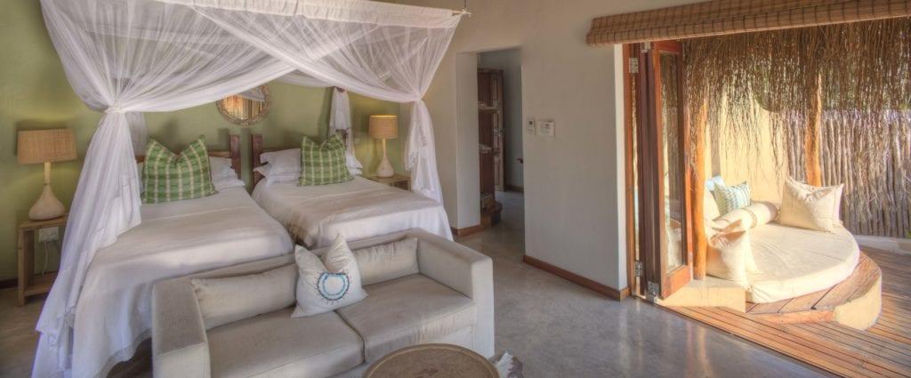 Beach Villa Bedroom Interior at Azura Benguerra Mozambique