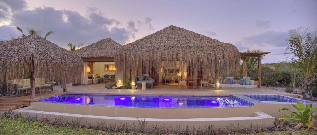 Royal Beach Villa Exterior and Pool at Azura Benguerra Mozambique