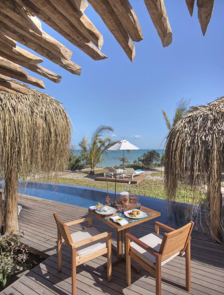 On-deck Dining at Royal Beach Villa Azura Benguerra Mozambique