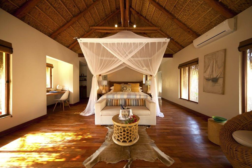 Infinity Beach Villa Bedroom at Azura Benguerra Mozambique