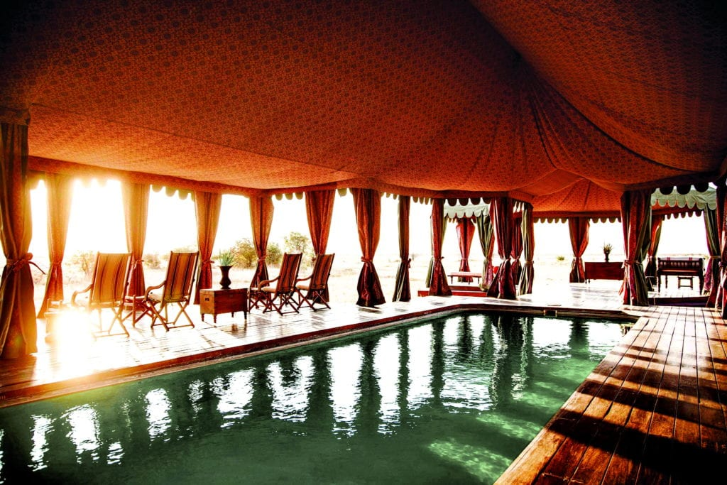Pool at Jacks Camp Botswana