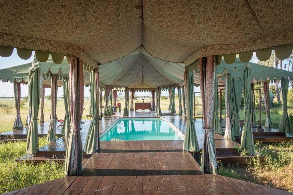 Swimming Pool at Jacks Camp Daytime Botswana