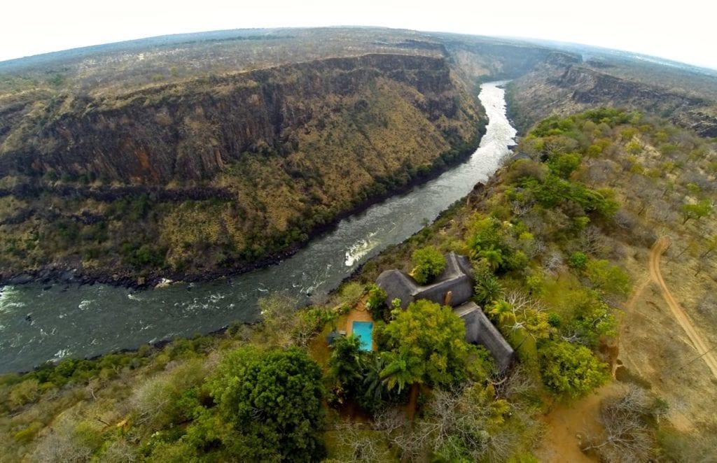 Aerial Bakota Gorge Lodge
