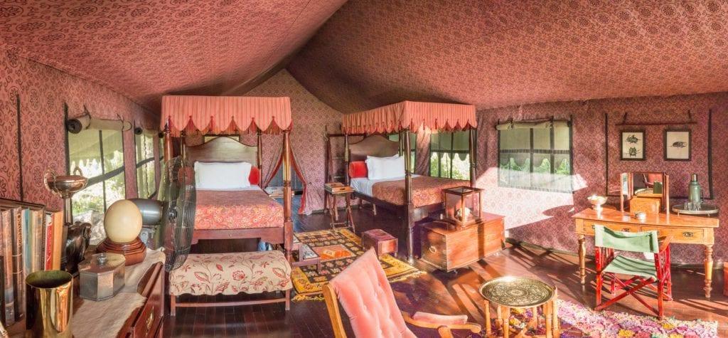 Bedroom Panorama of Jacks Camp Botswana
