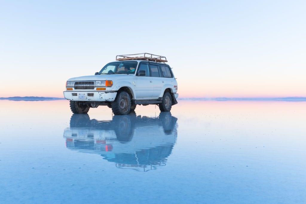 4WD Bolivia Salt Flats Mirror Surface