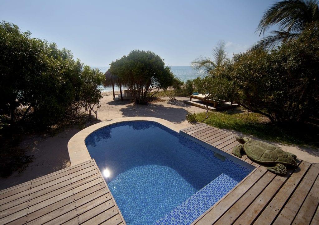 Beach Villa Private Pool at Azura Benguerra Mozambique