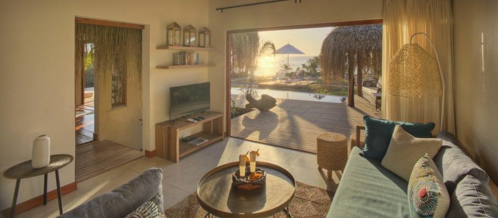 Royal Beach Villa Interior Lounge at Azura Benguerra Mozambique