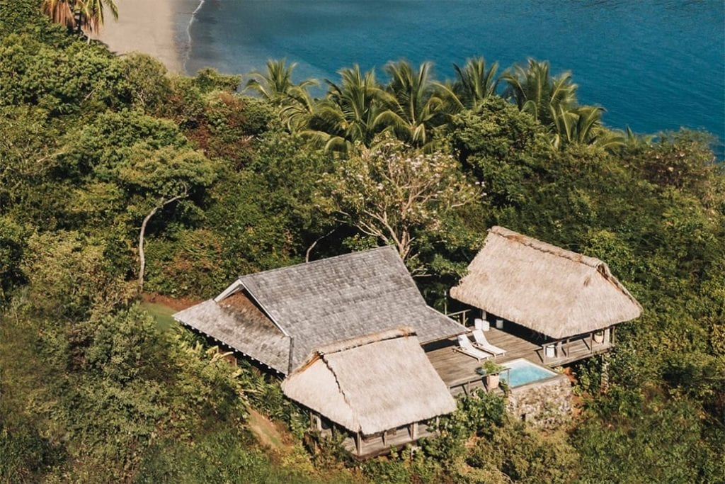 Aerial View of Casitas at Isla Secas Panama