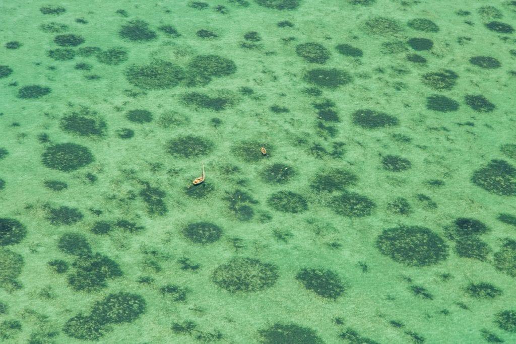Aerial View of the Ocean Bazaruto Mozambique
