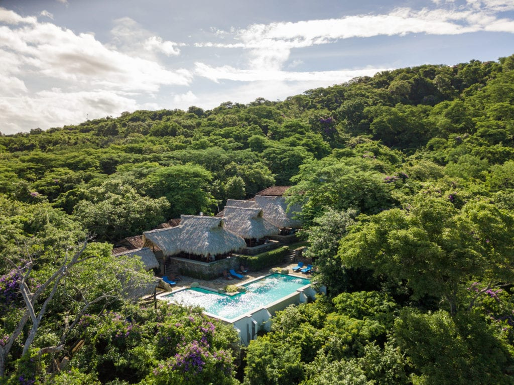 Aerial View of Exterior and Pool at Morgans Rock in Nicaragua